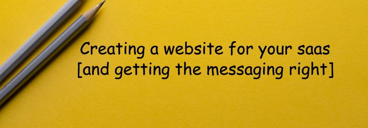 create saas website