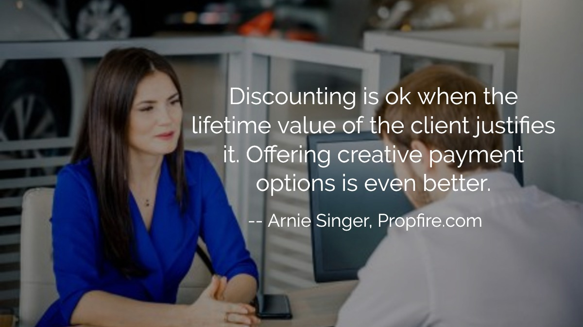 discounting projects