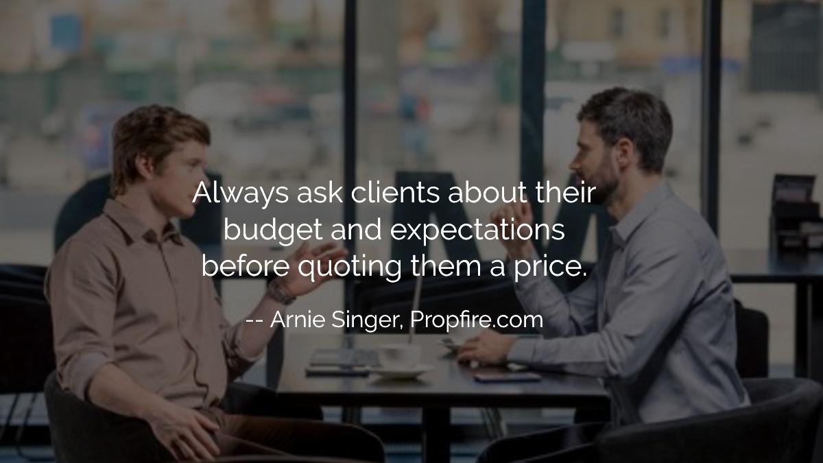 client budget