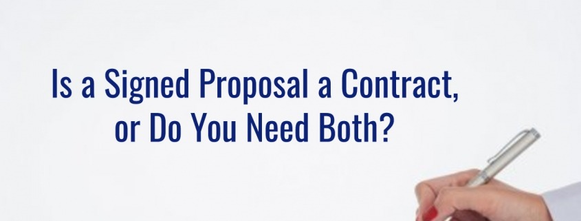 proposal or contract